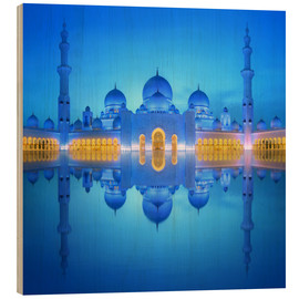 Wood  Sheikh Zayed Grand Mosque at blue