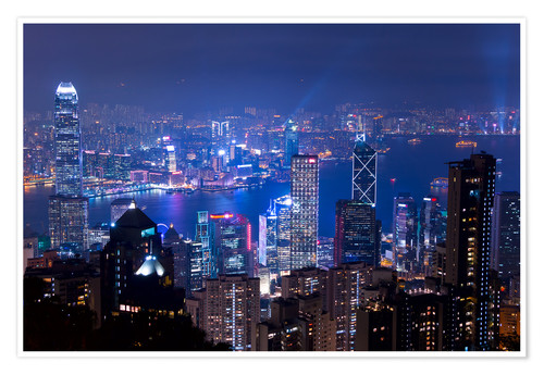 Premium poster View of Hong Kong from Victoria Peak