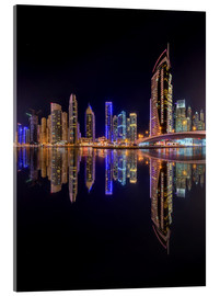 Acrylic print  Dubai marina at night