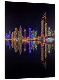 Forex  Dubai marina in deep black