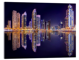 Acrylic print  The beauty of the marina in Dubai
