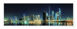 Poster  Panorama of the business houses of Dubai