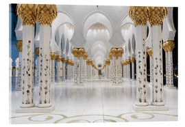 Acrylic glass  famous Sheikh Zayed mosque