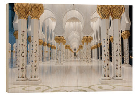 Wood  famous Sheikh Zayed mosque