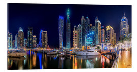 Acrylic print  The fascination of Dubai Marina Bay