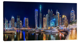 Canvas  The fascination of Dubai Marina Bay