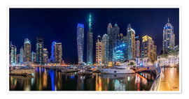 Premium poster The fascination of Dubai Marina Bay