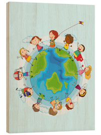Wood print  Children of the world - Kidz Collection