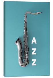 Canvas print  Saxophone on color II