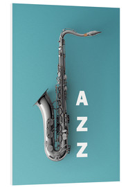 Foam board print  Saxophone on color II