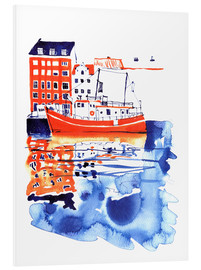 Foam board print  Copenhagen canal and harbour - Anastasia Mamoshina