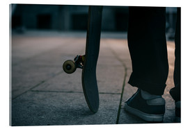 Acrylic glass  Skater and his board
