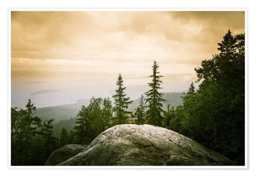 Premium poster Panorama of Koli National Park
