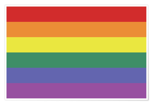 Poster Gay pride flag