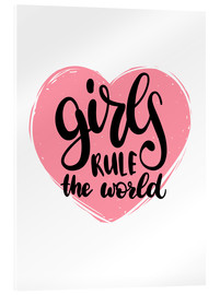 Acrylic print  Girls rule the world - Typobox