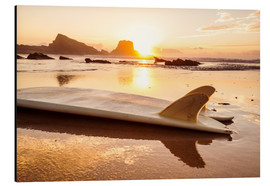 Alu-Dibond  Surfboards at the beach
