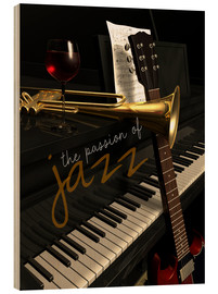 Wood print  passion of Jazz - colosseum