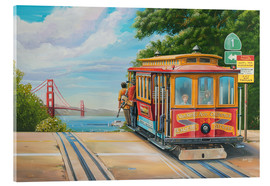 Acrylic print  To Golden Gate Bridge - Georg Huber