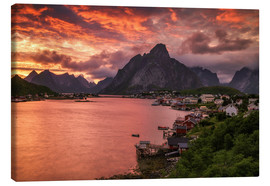 Canvas print  Lofoten sunset in Reine - Dennis Fischer