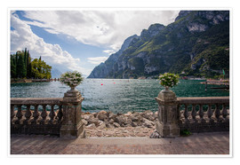 Premium poster Lake Garda in the summer