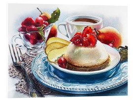Acrylic print  Strawberry Cheesecake - Maria Mishkareva