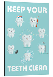 Aluminium print  Keep your teeth clean - Kidz Collection