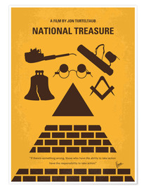 Premium poster No887 My National Treasure minimal movie poster