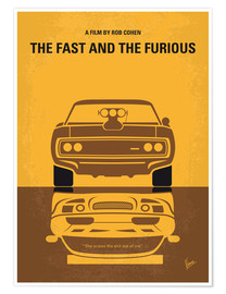 Premium poster No207 1 My The Fast and the Furious minimal movie poster