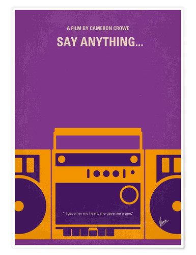 Premium poster Say Anything...