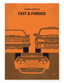 Premium poster No207 4 My Fast and Furious minimal movie poster