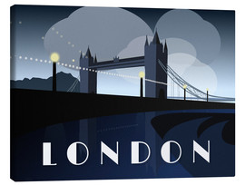 Canvas print  London Tower Bridge Art Deco style - Alex Saberi