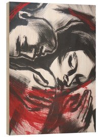 Wood print  Lovers - The Power Of Love 2 - Carmen Tyrrell