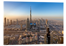 Acrylic print  Sunrise at Dubai City - Dieter Meyrl