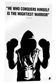 Acrylic print  WARRIOR Motivational Quotes - Paola Morpheus
