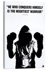 Canvas print  WARRIOR Motivational Quotes - Paola Morpheus