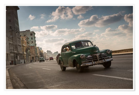 Alex Saberi - Cuban american car driving through Havana, Cuba.