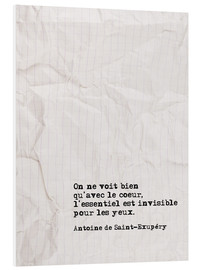 Foam board print  You only see well with your heart (French) - Typobox