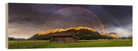 Martin Wasilewski - Rainbow and alpenglow in the Karwendel