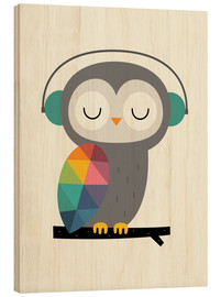Wood print  Owl time - Andy Westface