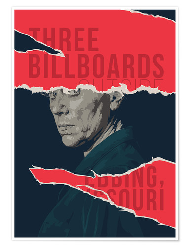 Premium poster Three billboards outside ebbing missouri