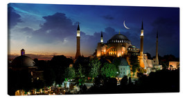 Canvas print  View of Hagia Sophia after sunset