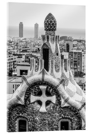 Acrylic print  Impressive architecture and mosaic art at Park Guell