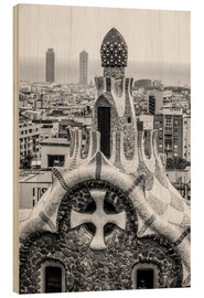 Wood  Impressive architecture and mosaic art at Park Guell