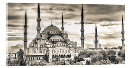 Acrylic print  Blue mosque in sepia