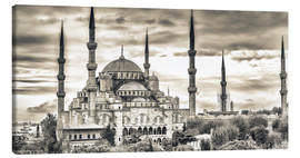 Canvas  Blue mosque in sepia
