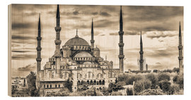 Blue mosque in sepia