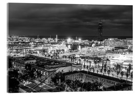 Acrylic print  Beautiful view over the Port of Barcelona