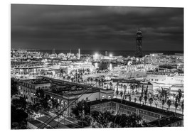 Beautiful view over the Port of Barcelona