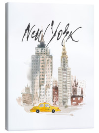 Canvas print  New York skyscrapers, watercolour