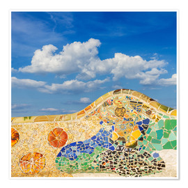 Premium poster Mosaic in the Park Güell